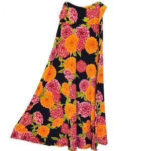 LuLaRoe Floral Maxi Skirt—Size L—NWT